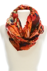 wholesale colorful foliage infinity scarf