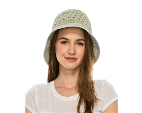 bulk straw hats - wholesale crochet ladies bucket hat