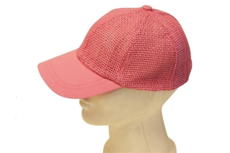 98201 Straw Mesh Baseball Cap