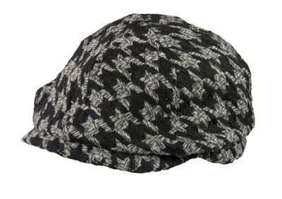wholesale closeouts ivy caps houndstooth
