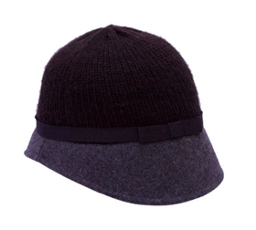 wholesale knit top cloche hat