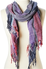 wholesale boho plaid scarf
