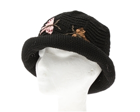 wholesale Crochet Hat w/ Butterfly