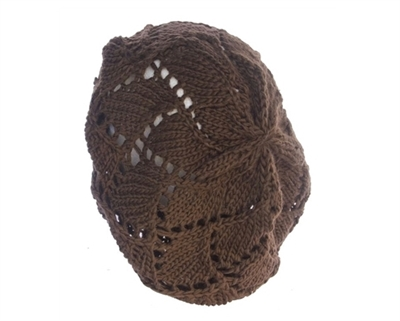 wholesale thick knit patterned beret