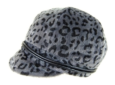 wholesale furry leopard cabbie