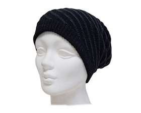 wholesale black reversible beanies for women and men