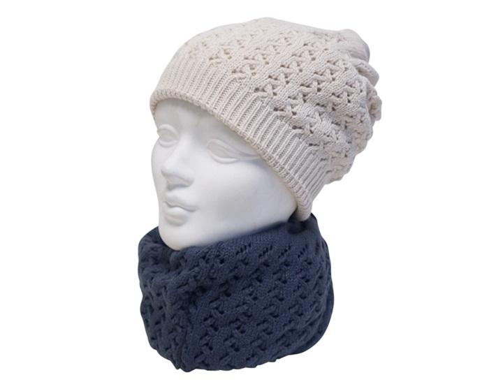 9983 88 Pattern Knit Beaniecowl