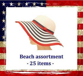 Hats and Beacn Bags - Red, White, and Blue