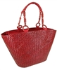 wholesale seagrass tote  wood bead trim