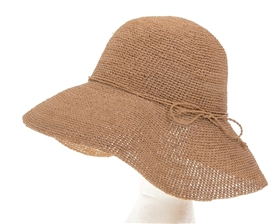 Wholesale Fine Raffia Crochet Lampshade Hat