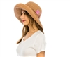 Wholesale Fine Raffia Crochet Sun Hat w/ Embroidery