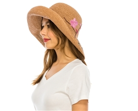 wholesale embroidered raffia straw hats fine crochet