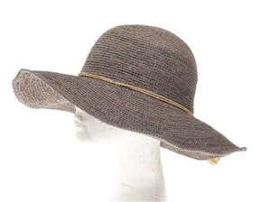 Wholesale Fine Raffia Crochet Tassel Hat
