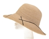Wholesale Sun Hats Fine Raffia Crochet Straw Hat Line Pattern
