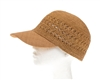 Wholesale Fine Raffia Crochet Color Baseball Cap
