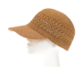 fashion baseball hats wholesale - raffia straw womens baseball caps speckled colors