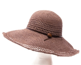wholesale 5 inch brim sun hats crochet raffia straw hat