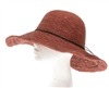 Wholesale Fine Raffia Crochet Sun Hat w/ Speckled Pattern