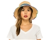 Wholesale Wavy Brim Fine Raffia Crochet Bucket Hat