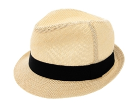 wholesale Men's Natural Straw Fedora