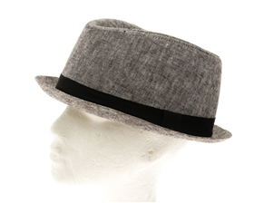 wholesale Men's Linen Porkpie Fedora