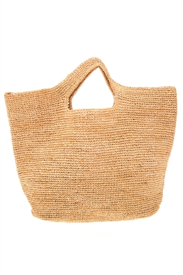 Wholesale Oversized Raffia Crochet Tote Bag - Hand Crocheted Beach Bags Wholesale California - Los Angeles Beach Bags Wholesale - Beach Bag Importer Wholeasler USA
