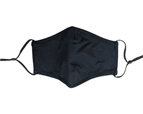 Black Cotton Facemasks - Pack of 6 ($3.50/each)