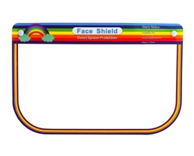 wholesale childrens rainbow face shields - buy bulk face shields los angeles california usa