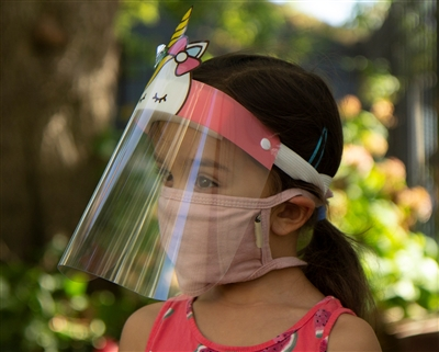wholesale childrens unicorn face shields - buy bulk face shields los angeles california usa