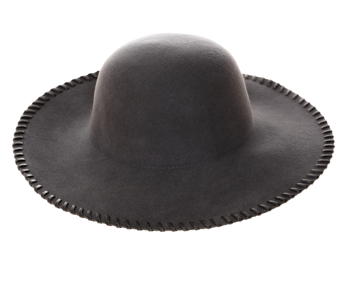f019e6e49 3132 Whipstitch Wool Floppy Hat