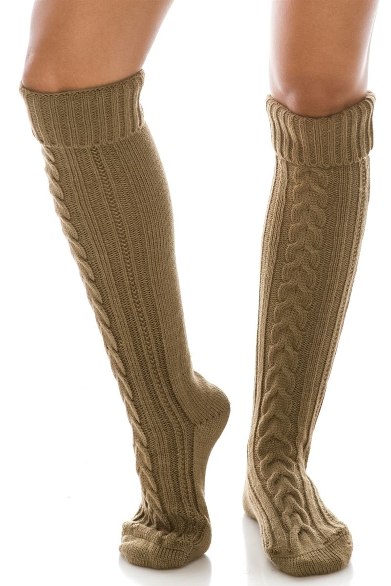 d1921045cac Wholesale Long Cable Knit Boot Socks